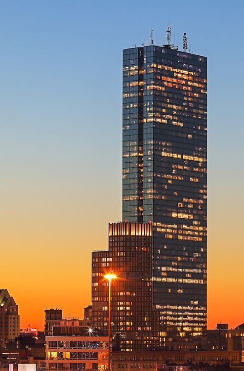 Boston sunset photography on tap showing The Clarendon and 200 Clarendon better known as the John Hancock Tower. The long exposure photography sunset photo was captured on a stunning night when the last light painted the skyscrapers and sky in beautiful orange and blue hues.<br /> <br /> Back Bay Boston sunset photography images are available as museum quality photography prints, canvas prints, acrylic prints or metal prints. Fine art prints may be framed and matted to the individual liking and decorating needs:<br /> <br /> http://juergen-roth.pixels.com/featured/back-bay-boston-sunset-juergen-roth.html<br /> <br /> All Boston sunset photography photos are available for digital and print photography image licensing at www.RothGalleries.com. Please contact me direct with any questions or request.<br /> <br /> Good light and happy photo making!<br /> <br /> My best,<br /> <br /> Juergen<br /> Prints: http://www.rothgalleries.com<br /> Photo Blog: http://whereintheworldisjuergen.blogspot.com<br /> Instagram: https://www.instagram.com/rothgalleries<br /> Twitter: https://twitter.com/naturefineart<br /> Facebook: https://www.facebook.com/naturefineart