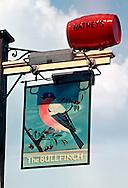 Pub Signs, The Bullfinch, Riverhead, Kent, Britain