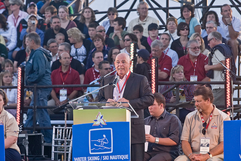 (Ottawa, Ontario---13 August 2008) City of Ottawa Mayor Larry O'Brien at the opening ceremonies of the 2008 Ontario Summer Games in Ottawa. Photo copyright Sean Burges/Mundo Sport Images. More details can be found at www.msievents.com.