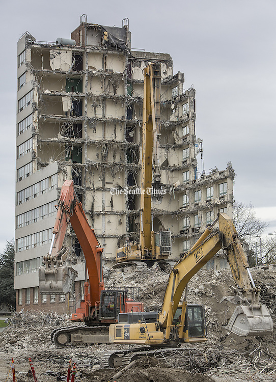 After housing UW students for six decades after its 1953 opening, Terry Hall near UW&rsquo;s campus is being demolished to make way for the new Maple and Terry residential halls.<br />