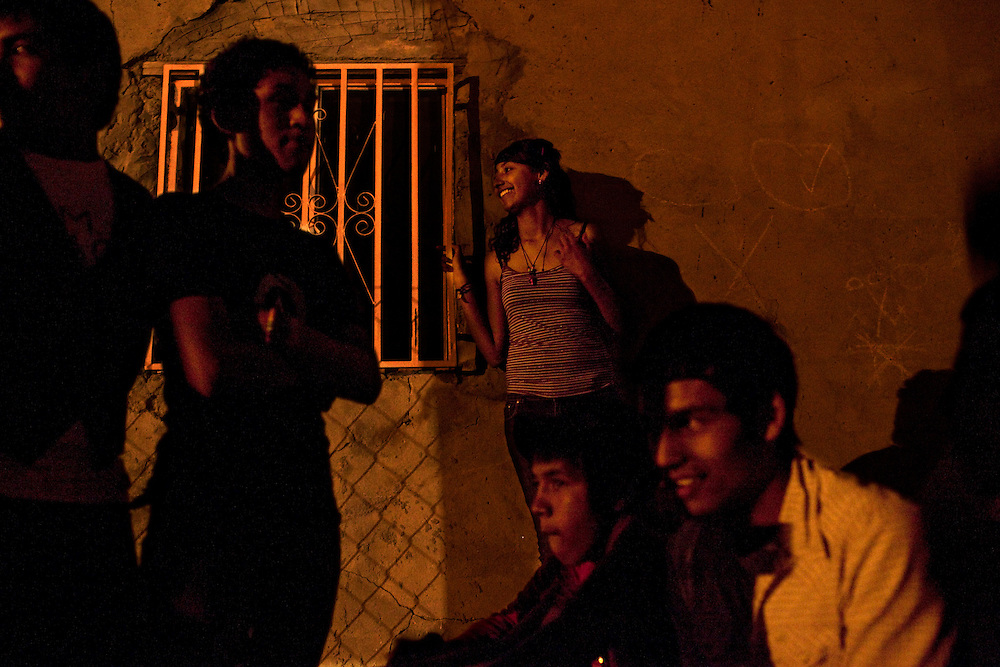 Friends hang out in the Diaz Ordaz colonia in Ciudad Juarez, Chihuahua Mexico on May 7, 2010. .