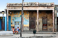 Couple with baby in Cumanayagua, Cienfuegos, Cuba.