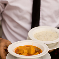 Squash and lamb and yogurt at Kiva, Galata, Istanbul, Turkey
