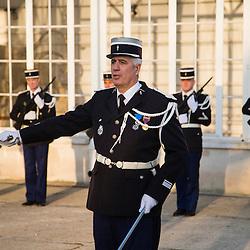 C&eacute;r&eacute;monie d'anniversaire &agrave; l'occasion des 40 ans de la Brigade Fluviale de Gendarmerie de Conflans Sainte Honorine. <br /> D&eacute;cembre 2016 / Conflans Sainte Honorine (78) / FRANCE<br /> Voir le reportage complet (25 photos) http://sandrachenugodefroy.photoshelter.com/gallery/2016-12-40-ans-de-la-BF-Conflans-Complet/G0000YtLYPcSMnIM/C0000yuz5WpdBLSQ