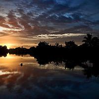 Sunrise over the Navua River, Viti Levu, Fiji