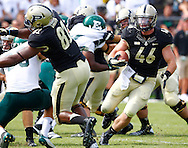 WEST LAFAYETTE, IN - SEPTEMBER 15: Fullback Kurt Freytag #46 of the Purdue Boilermakers runs the ball against the Eastern Michigan Eagles at Ross-Ade Stadium on September 15, 2012 in West Lafayette, Indiana. (Photo by Michael Hickey/Getty Images)***Local Caption***Kurt Freytag