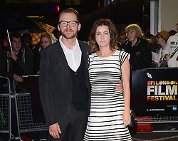 Simon Pegg and Maureen Pegg attend Kill Me Three Times Premiere as part of BFI LFF at Odeon West End on Saturday 18th October 2014