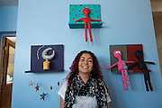 Artist Arabella Medrano at her studio in Reynosa, Tamaulipas, Mexico.<br /> <br /> &copy; Stefan Falke<br /> www.stefanfalke.com<br /> LA FRONTERA: Artists along the US Mexican Border