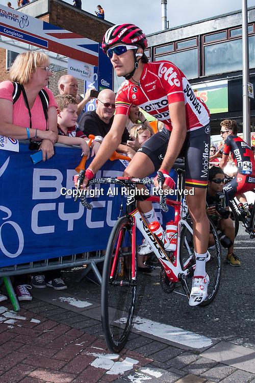 06.09.2016. Congleton Cheshire, England.  Tour of Britain, Stage 3, Congleton to Knutsford.  Lotto Soudal rider Frederik Frison.