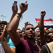 Tens of thousands of Egyptians take part in a large July 8, 2011 protest in Tahrir Square in downtown Cairo, Egypt. Many of the protesters have vowed to stay in the square until the demands of the revolution are met, including an end to military trials of civilians, prosecution of police officers accused of murder or torture and open trials of former regime officials including ex-President Hosni Mubarak. (Photo by Scott Nelson/Der Spiegel)