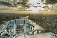 At the top of the Eye you enjoy a great view of the Thames. The pods are large and provide a 360 degree view.