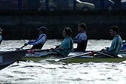 PUTNEY, LONDON, ENGLAND, 05.03.2006, Pre 2006 Boat Race Fixtures,.   © Peter Spurrier/Intersport-images.com, No.7 Tom James, stroke Kip McDaniel [Mandatory Credit Peter Spurrier/ Intersport Images] Varsity Boat Race, Rowing Course: River Thames, Championship course, Putney to Mortlake 4.25 Miles
