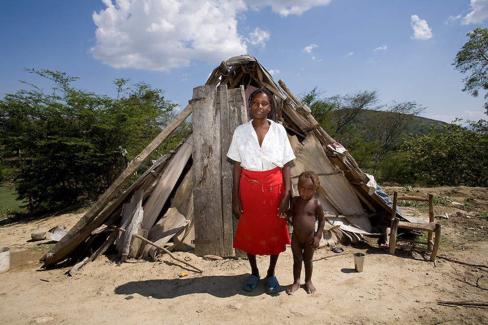A woman at her home.