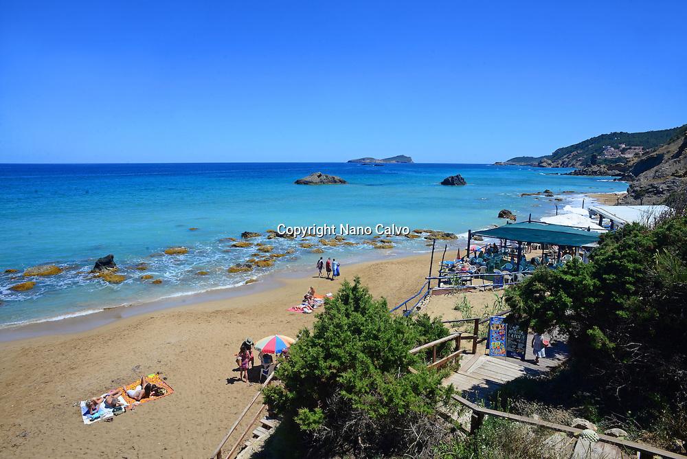 Aguas Blancas Beach at Es Figueral, Santa Eulalia del RÌo, Ibiza.