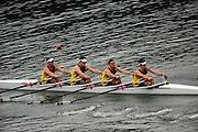 Ottensheim, AUSTRIA.   AUS JM4X, Bow Thomas COX, Jonathan TROVAS, Christopher ANDERSON and Scott LAIDLER Repechage starts,  at the, 2008 FISA Senior and Junior Rowing Championships,  Linz/Ottensheim. Thursday,  24/07/2008.  [Mandatory Credit: Peter SPURRIER, Intersport Images] Rowing Course: Linz/ Ottensheim, Austria