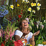 Sammy Schwarz of Sammy's Flowers loves her work and likes to have fun while doing it.