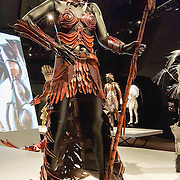 """""""Ornitho-Maia (The Bird Mother)"""" (2008) costume by Nadine Jaggi. WOW, World of Wearable Art (TM) is New Zealand's largest arts show. This showcase of work emerges from WOW, a spectacular international design competition where art and fashion intersect. This July 8, 2016 photo is from an exhibition at the EMP Museum, now called MOPOP (Museum of Pop Culture), Seattle, Washington, USA. For licensing options, please inquire."""