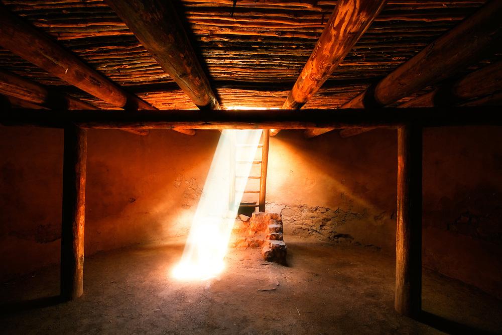 Kiva at Pecos National Historical Park. Pecos, New Mexico.