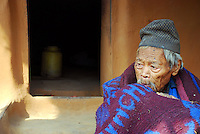 A chepang villager, over a 100 years old, in Nepal.