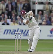 Photo Peter Spurrier.31/08/2002.Cheltenham & Gloucester Trophy Final - Lords.Somerset C.C vs YorkshireC.C..Somerset batting Michael Burns..