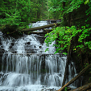 &quot;Wagner Falls&quot;<br /> <br /> Wonderful and scenic Wagner Falls in Michigan's Upper Peninsula. Surrounded by lush green trees, and forest!!<br /> <br /> Waterfalls by Rachel Cohen