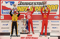 Scott Dixon, Dario Franchitti, Graham Rahal, Bridgestone Indy 300 Japan, Motegi, Japan