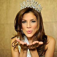 Exclusive photo session with Anyoli Abrego, the new  Miss Panama 2010,  heading to Miss Universe. Miss ¨Sen?orita Panama¨ beauty pageant  at the Sheraton Hotel. Panama.