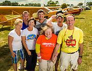 Enjoying a moment of family fun during  AirVenture 2012.  Oshkosh, Wisconsin.