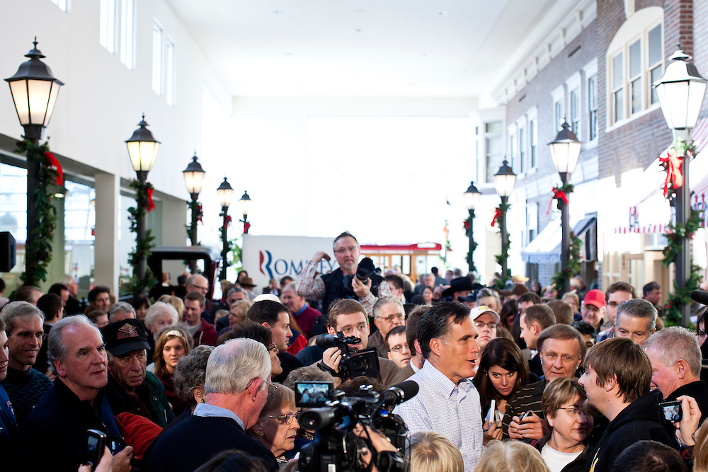 Republican presidential candidate Mitt Romney speaks at a town hall meeting on Thursday, December 29, 2011 in Mason City, IA.