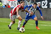 UTRECHT - FC Utrecht - SC Heerenveen , Voetbal , Eredivisie , Seizoen 2016/2017 , Stadion Galgenwaard , 05-02-2017 ,   FC Utrecht speler Giovanni Troupee (l) in duel met SC Heerenveen speler Lucas Bijker (r)