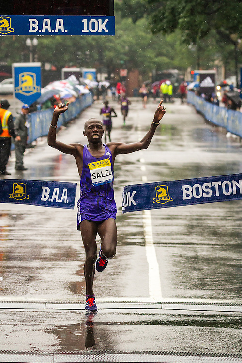 BAA 10K: winner Daniel Salel