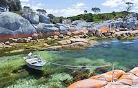 Beautiful coast at Binalong Bay, Tasmania, Australia