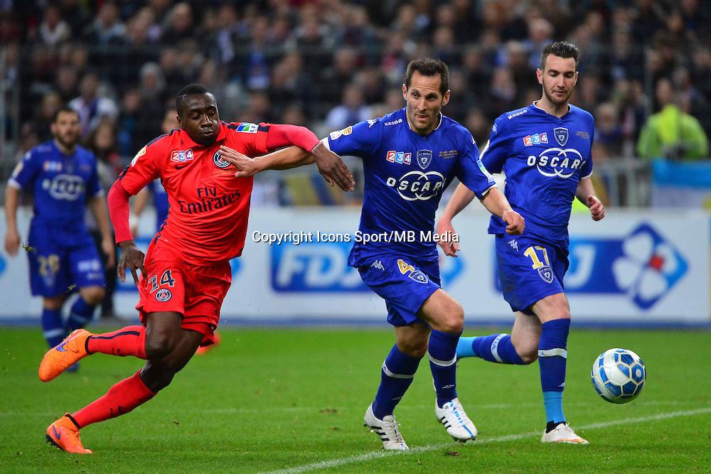 Blaise MATUIDI / Florian MARANGE    - 11.04.2015 -  Bastia / PSG - Finale de la Coupe de la Ligue 2015<br />Photo : Dave Winter / Icon Sport