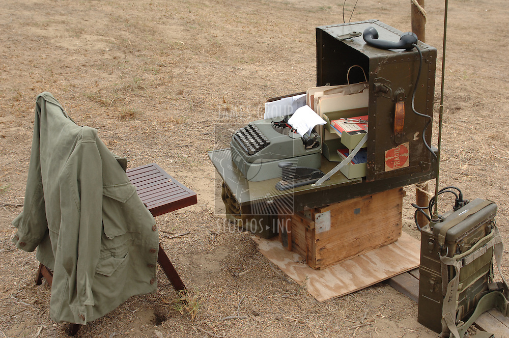 Vintage military communication outpost