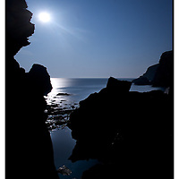 Nohoval Cove at the full moon