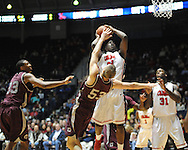 "Ole Miss' Reginald Buckner (23) vs. Arkansas Little Rock's Will Neighbour (53) at the C.M. ""Tad"" Smith Coliseum in Oxford, Miss. on Friday, November 16, 2012. Ole Miss won 92-52."