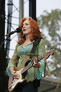 June 18, 2006; Manchester, TN.  2006 Bonnaroo Music Festival. Bonnie Raitt performs live at Bonnaroo 2006.  Photo by Bryan Rinnert