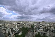Paris skyline as seen from Pompidou centre.