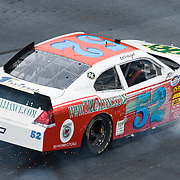 Kevin Lepage #52 crashes his car into the wall on the twentieth lap of the NASCAR Nationwide Series race at Dover International Speedway in Dover Delaware.<br /> <br /> Carl Edwards went on to win the NASCAR Nationwide Series at Dover International Speedway in Dover Delaware...