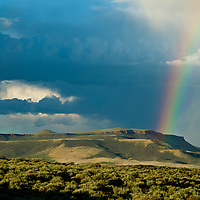 Rainbow over Steamboat Mountain in the Red Desert of Soutwest Wyoming