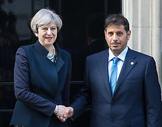 2017-03-27 Qatari Prime Minister Abdullah bin Nasser bin Khalifa Al Thani welcomed at Downing Street