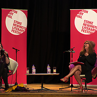 Caitlin Moran and Suzanne Moore<br /> On stage at the Stoke Newington Literary Festival. 9 June 2013<br /> <br /> Picture by David X Green/Writer Pictures