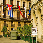 Picturesque Plaza de St. Francis in Old Havana, Cuba.