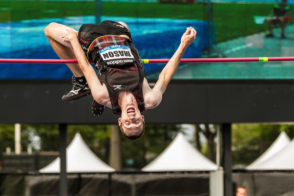 Michael Mason, Canada, men's high jump, adidas Grand Prix Diamond League track and field meet