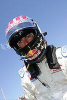 Alex Barron at the Michigan International Speedway, Firestone Indy 400, July 31, 2005