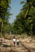 Hikkaduwa, South west coast of Sri Lanka. When the tsunami struck on the 26th of December 2004 more then 1500 people perished inside a train close to Hikkaduwa.