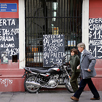 Buenos Aires, Argentina 24 August 2009<br /> A wall of a butcher in Buenos Aires.<br /> PHOTO: EZEQUIEL SCAGNETTI