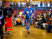 06 MAY 2017 - ST. PAUL, MN: A dancer in an intertribal dance at the 6th Annual Powwow for Hope at Ft. Snelling in St. Paul. The powwow was a fundraiser to support cancer education and supportive services for American Indian communities. Proceeds benefited the American Indian Cancer Foundation's work to eliminate cancer burdens on American Indian families. Cancer is the leading cause of death in Native American communities, exceeding coronary disease and diabetes.       PHOTO BY JACK KURTZ
