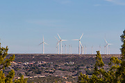Wind turbines on a plateau outside Big Spring, Texas, where the wind power business is booming.