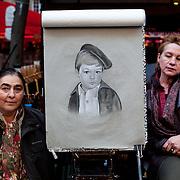 Caricaturists. Montmartre, Streets of Paris.